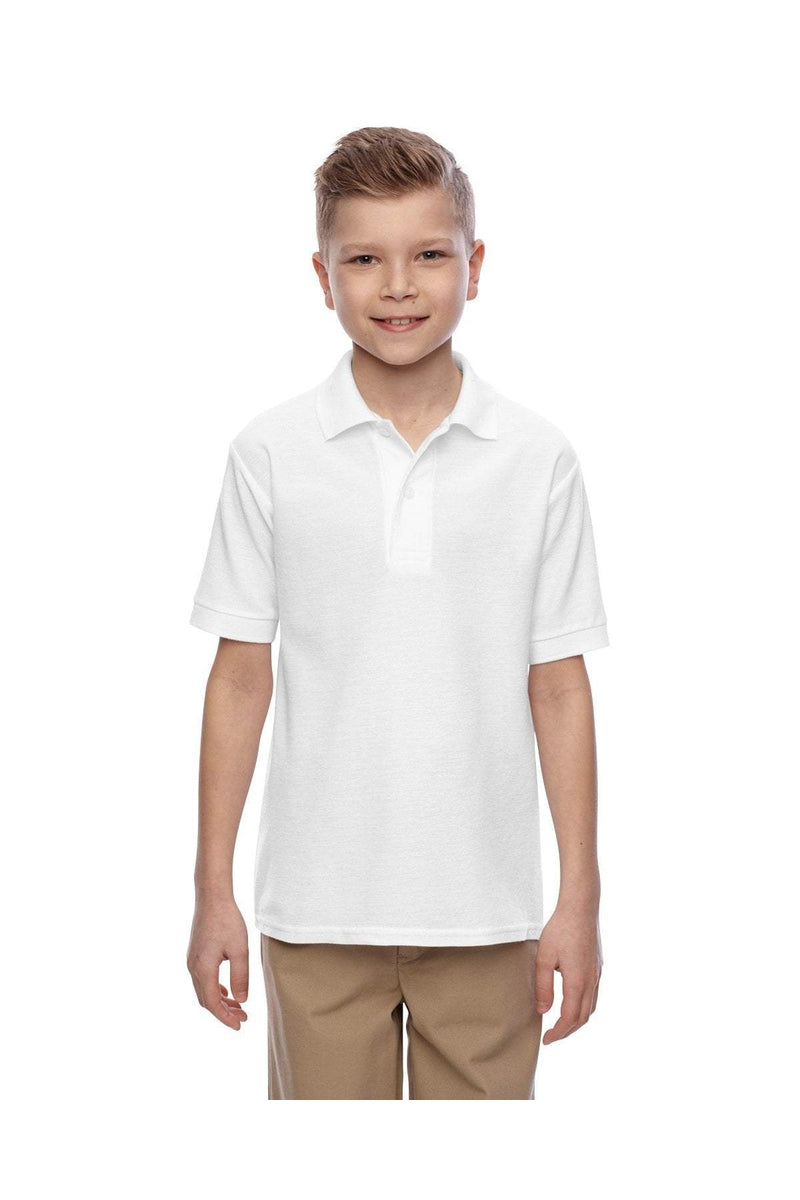 Jerzees 537YR: Youth 5.3 oz. Easy Care(tm) Polo-Polos-Bulkthreads.com, Wholesale T-Shirts and Tanks