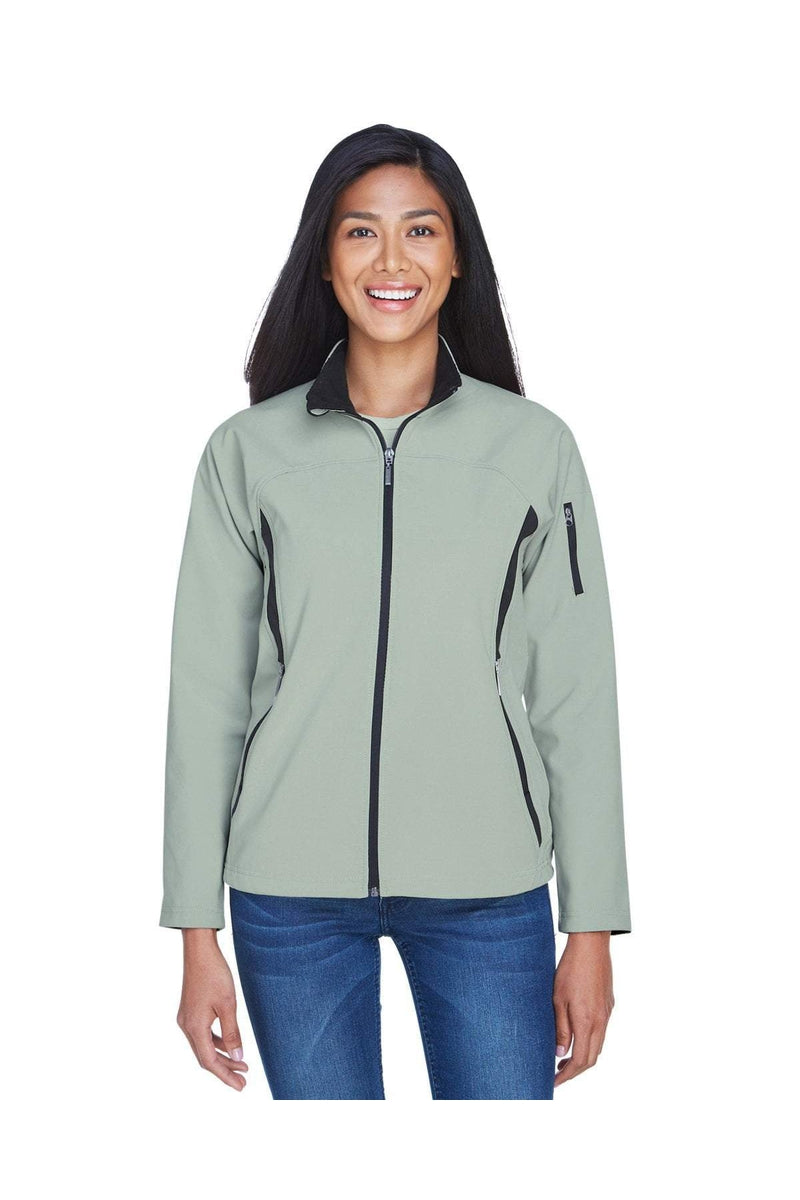 Ash City - North End 78034: Ladies' Three-Layer Fleece Bonded Performance Soft Shell Jacket-Outerwear-Bulkthreads.com, Wholesale T-Shirts and Tanks
