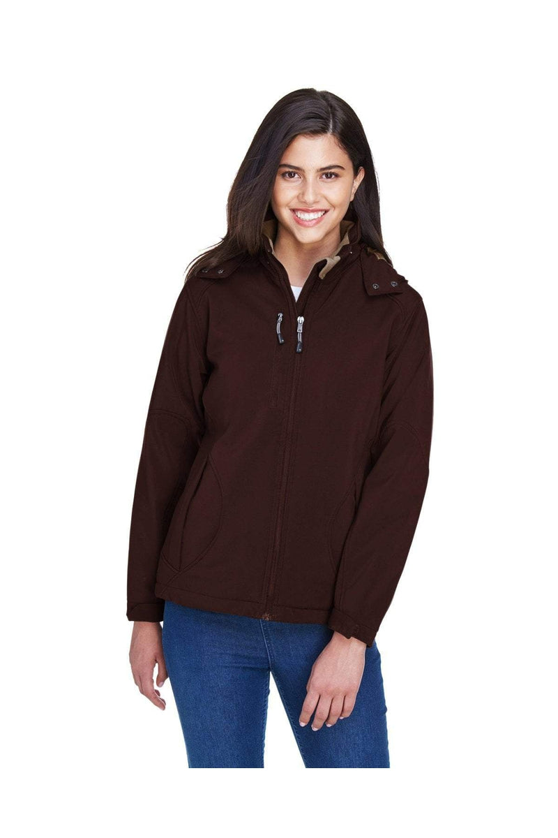 Ash City - North End 78080: Ladies' Glacier Insulated Three-Layer Fleece Bonded Soft Shell Jacket with Detachable Hood
