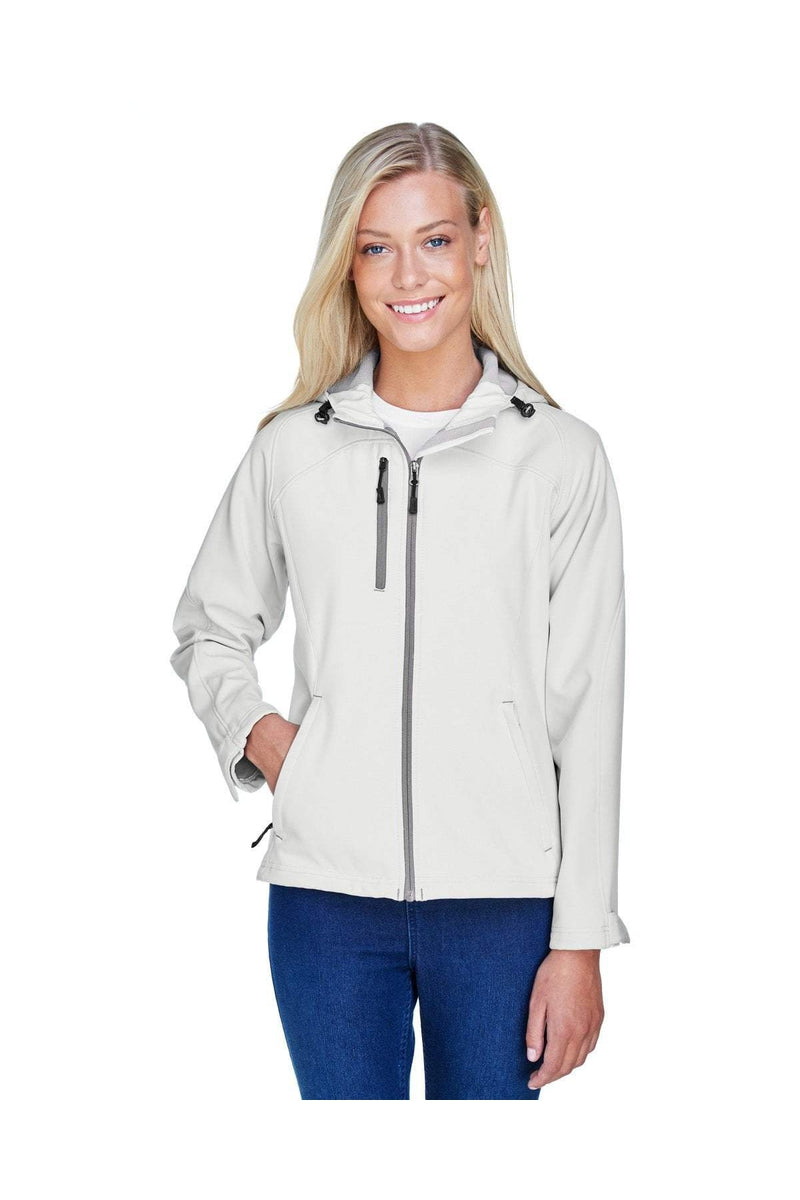 Ash City - North End 78166: Ladies' Prospect Two-Layer Fleece Bonded Soft Shell Hooded Jacket