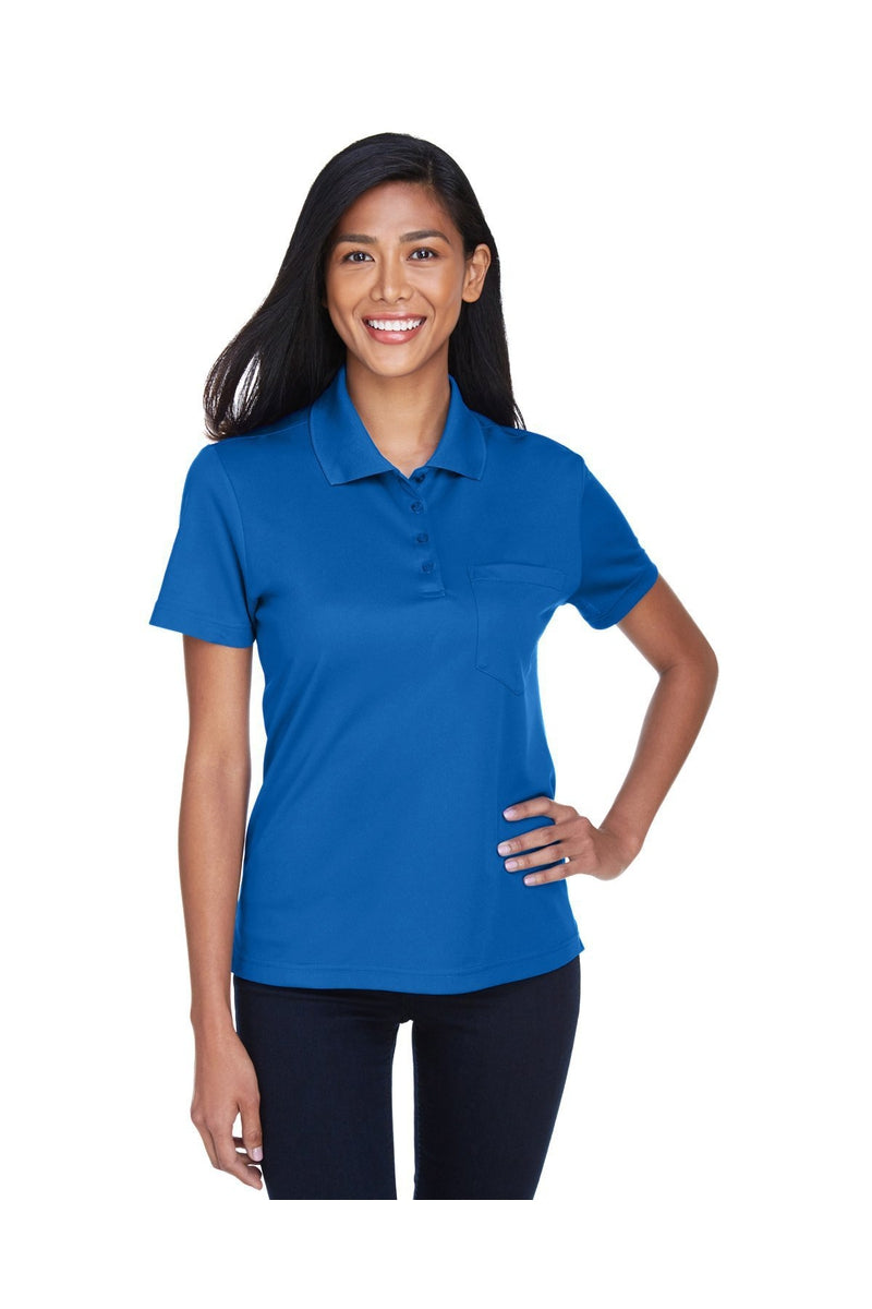 Ash City - Core 365 78181P: Ladies' Origin Performance Pique Polo with Pocket-Polos-Bulkthreads.com, Wholesale T-Shirts and Tanks