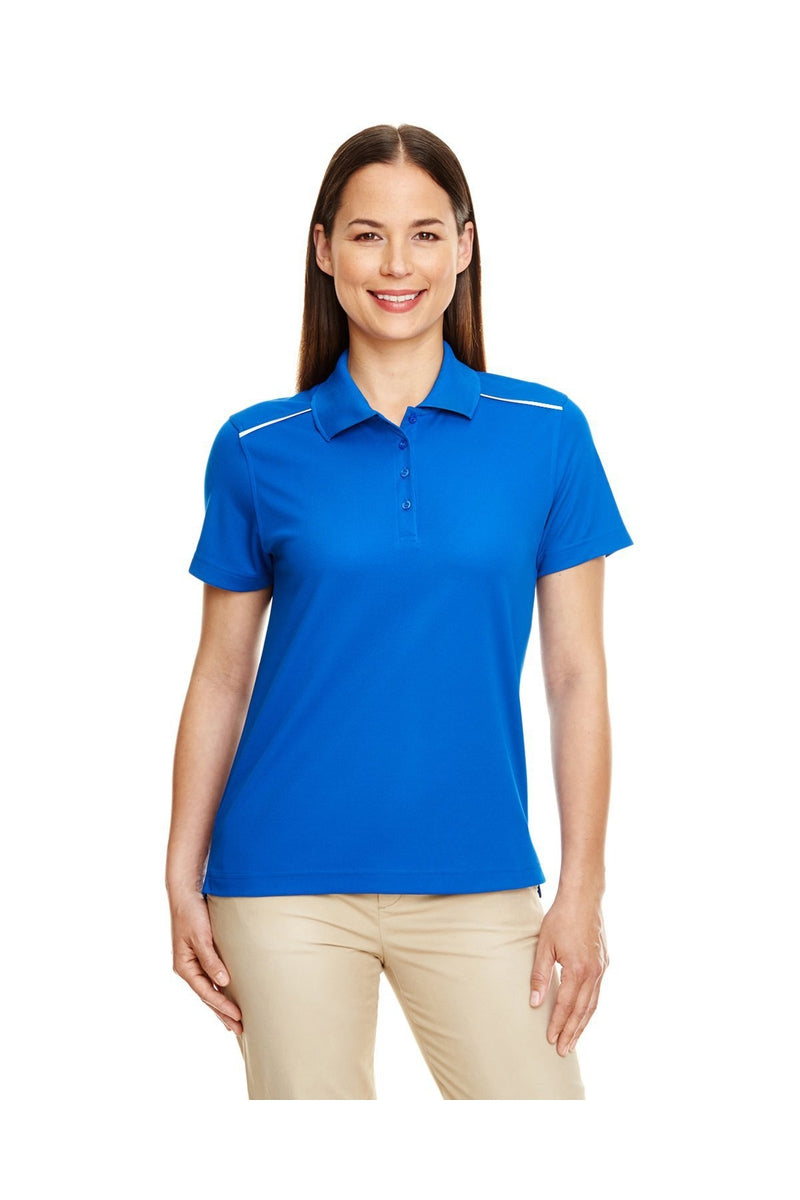 Ash City - Core 365 78181R: Ladies' Radiant Performance Pique Polo with Reflective Piping-Polos-Bulkthreads.com, Wholesale T-Shirts and Tanks