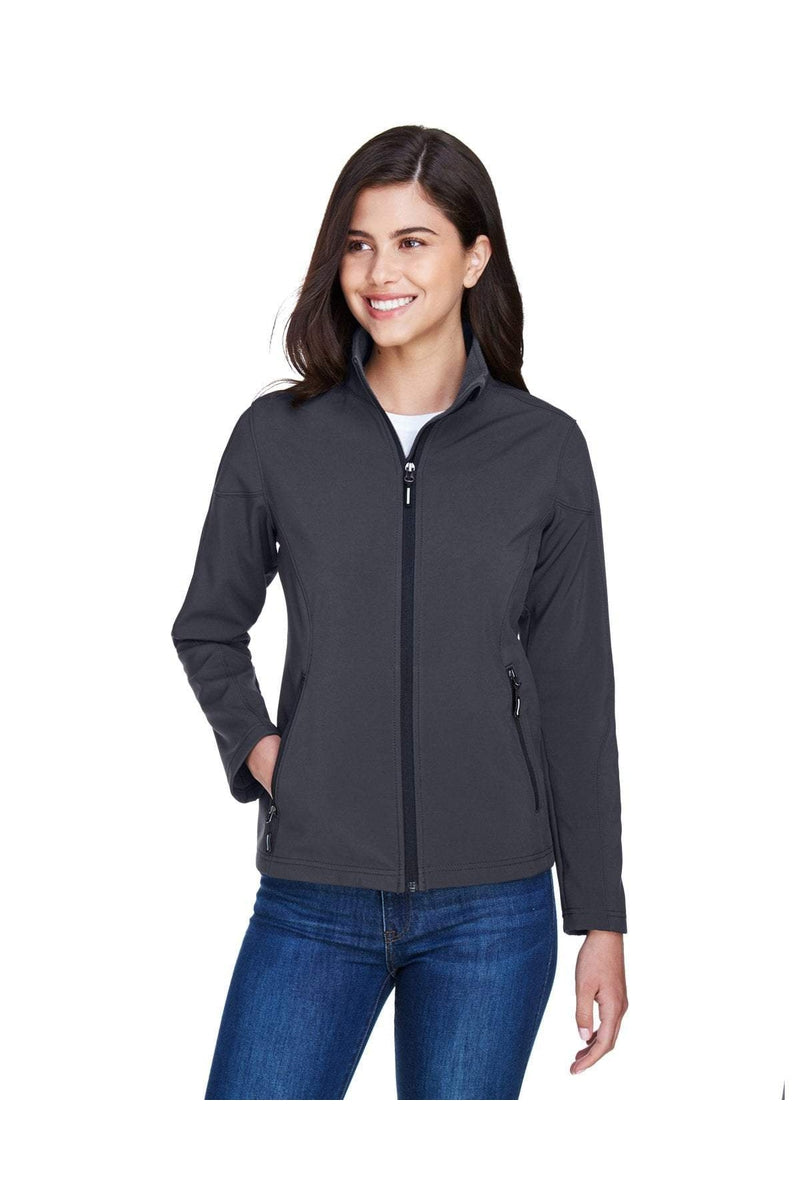 Ash City - Core 365 78184: Ladies' Cruise Two-Layer Fleece Bonded Soft Shell Jacket-Outerwear-Bulkthreads.com, Wholesale T-Shirts and Tanks