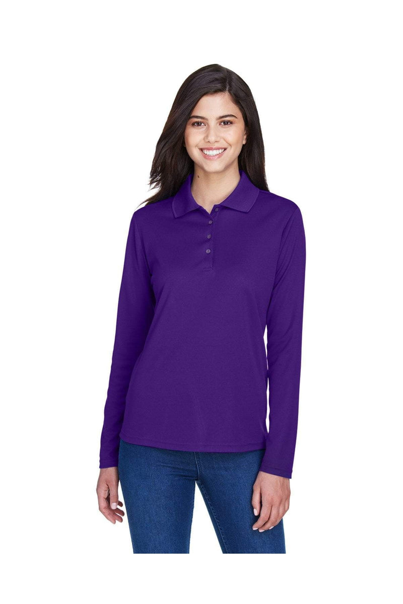 Ash City - Core 365 78192: Ladies' Pinnacle Performance Long-Sleeve Pique Polo-Polos-Bulkthreads.com, Wholesale T-Shirts and Tanks