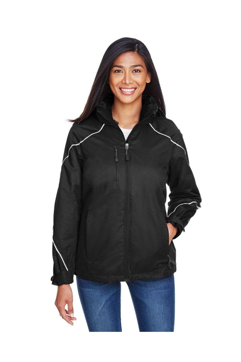 Ash City - North End 78196: Ladies' Angle 3-in-1 Jacket with Bonded Fleece Liner-Outerwear-Bulkthreads.com, Wholesale T-Shirts and Tanks
