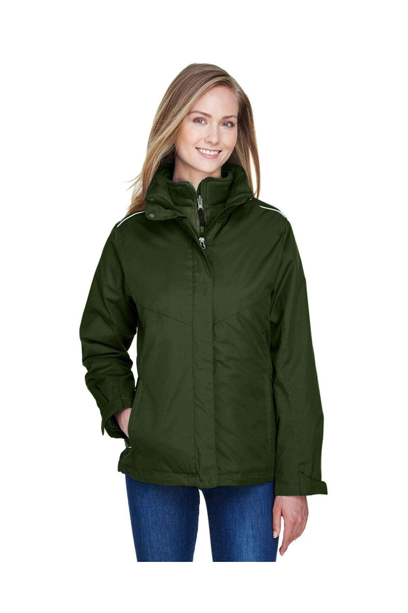 Ash City - Core 365 78205: Ladies' Region 3-in-1 Jacket with Fleece Liner-Outerwear-Bulkthreads.com, Wholesale T-Shirts and Tanks