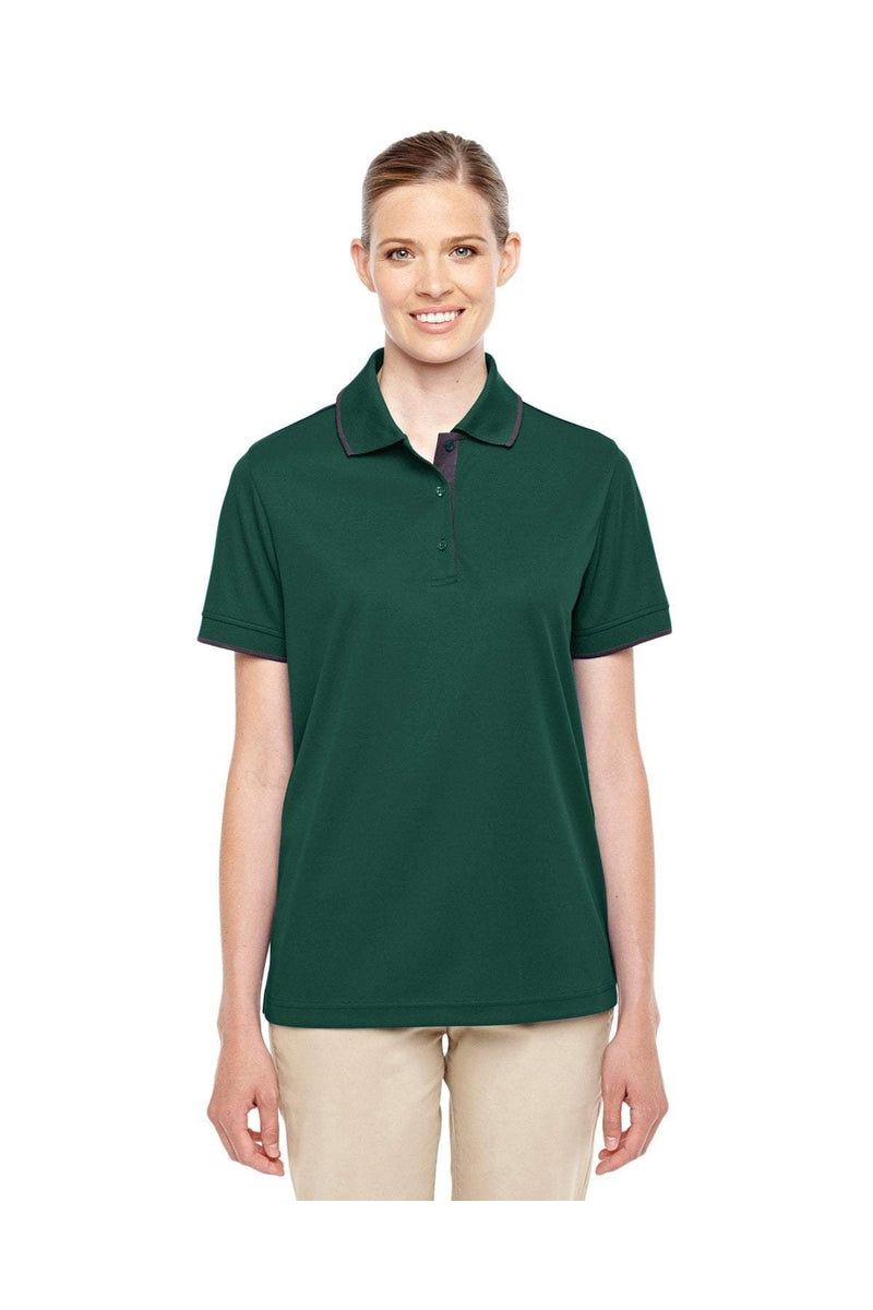 Ash City - Core 365 78222: Ladies' Motive Performance Pique Polo with Tipped Collar-Polos-Bulkthreads.com, Wholesale T-Shirts and Tanks