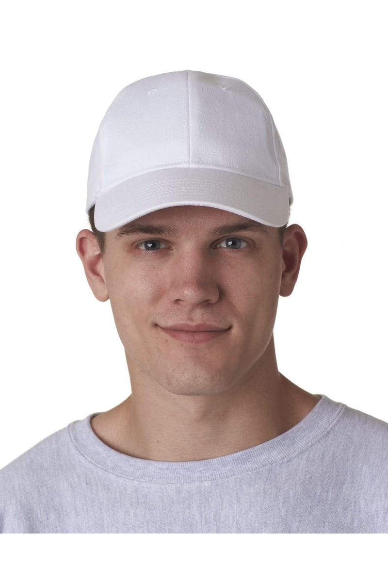 UltraClub 8110: Adult Classic Cut Brushed Cotton Twill Structured Cap