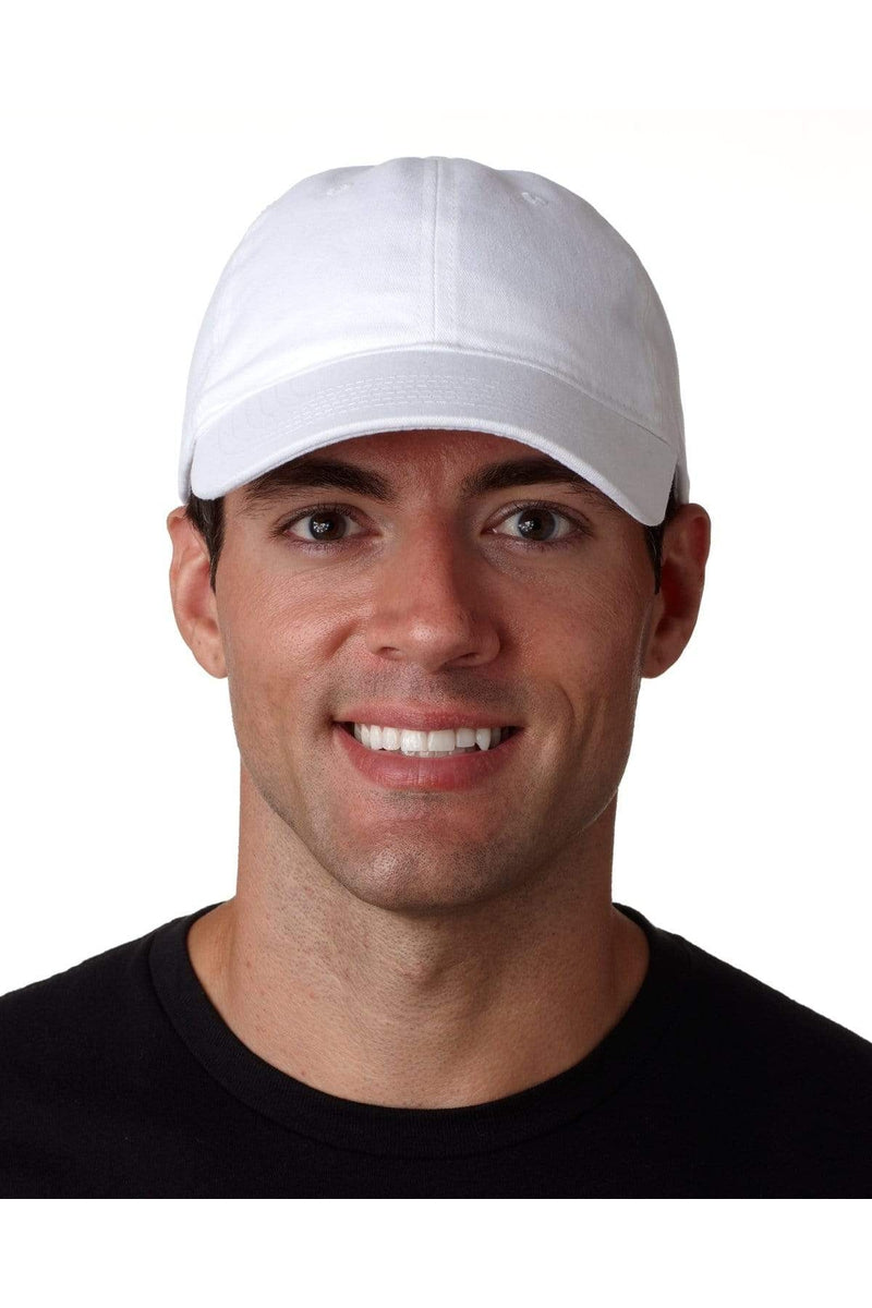UltraClub 8111: Adult Classic Cut Brushed Cotton Twill Unstructured Cap