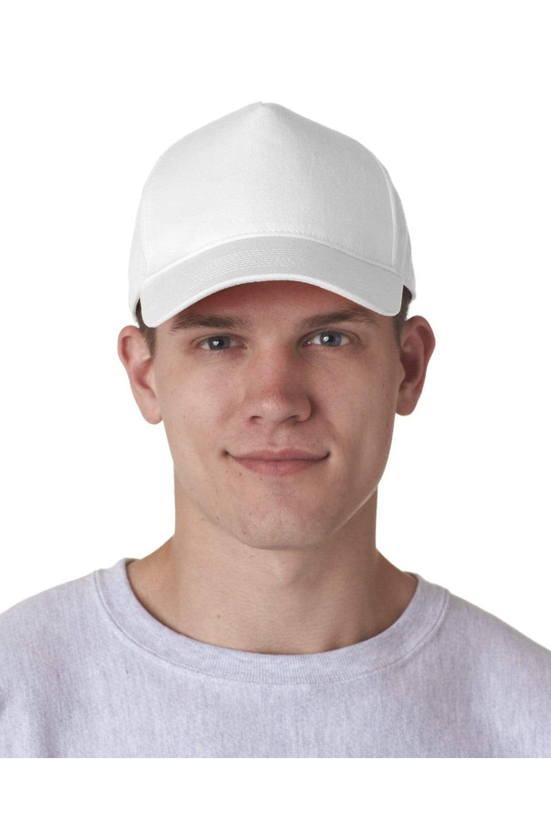 UltraClub 8120: Adult Classic Cut Cotton Twill 5-Panel Cap