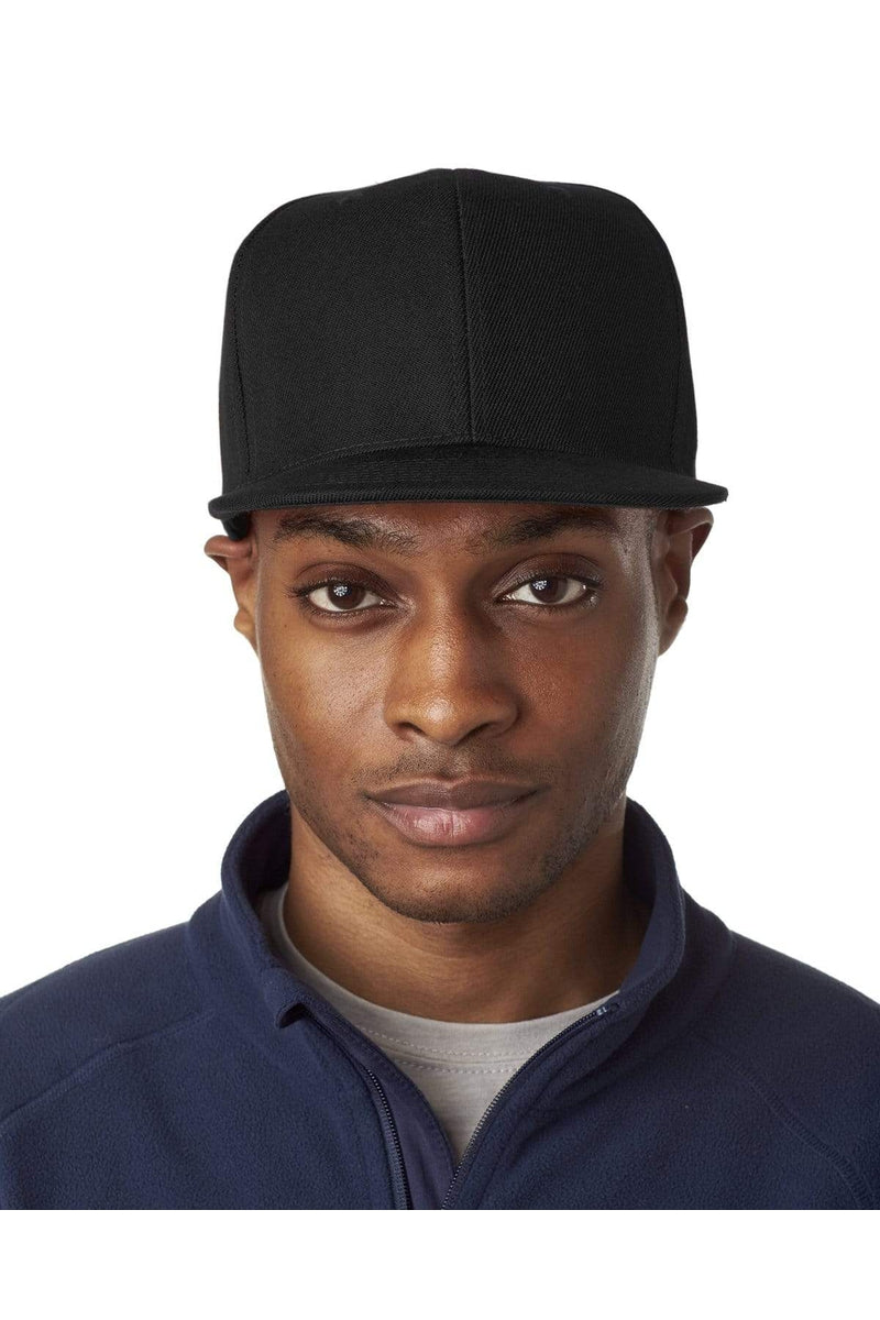 UltraClub 8160: Adult Flat Bill Cap