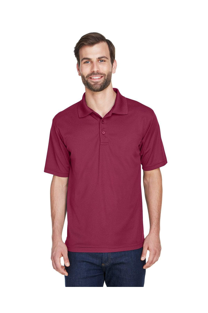 UltraClub 8210: Men's Cool & Dry Mesh Pique Polo, Basic Colors-Polos-Bulkthreads.com, Wholesale T-Shirts and Tanks