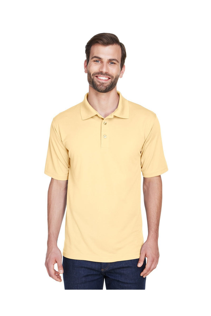 UltraClub 8210: Men's Cool & Dry Mesh Pique Polo, Traditional Colors-Polos-Bulkthreads.com, Wholesale T-Shirts and Tanks
