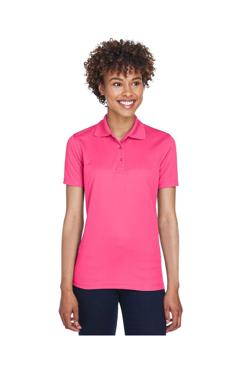 UltraClub 8210L: Ladies' Cool & Dry Mesh Pique Polo, Basic Colors-Polos-Bulkthreads.com, Wholesale T-Shirts and Tanks