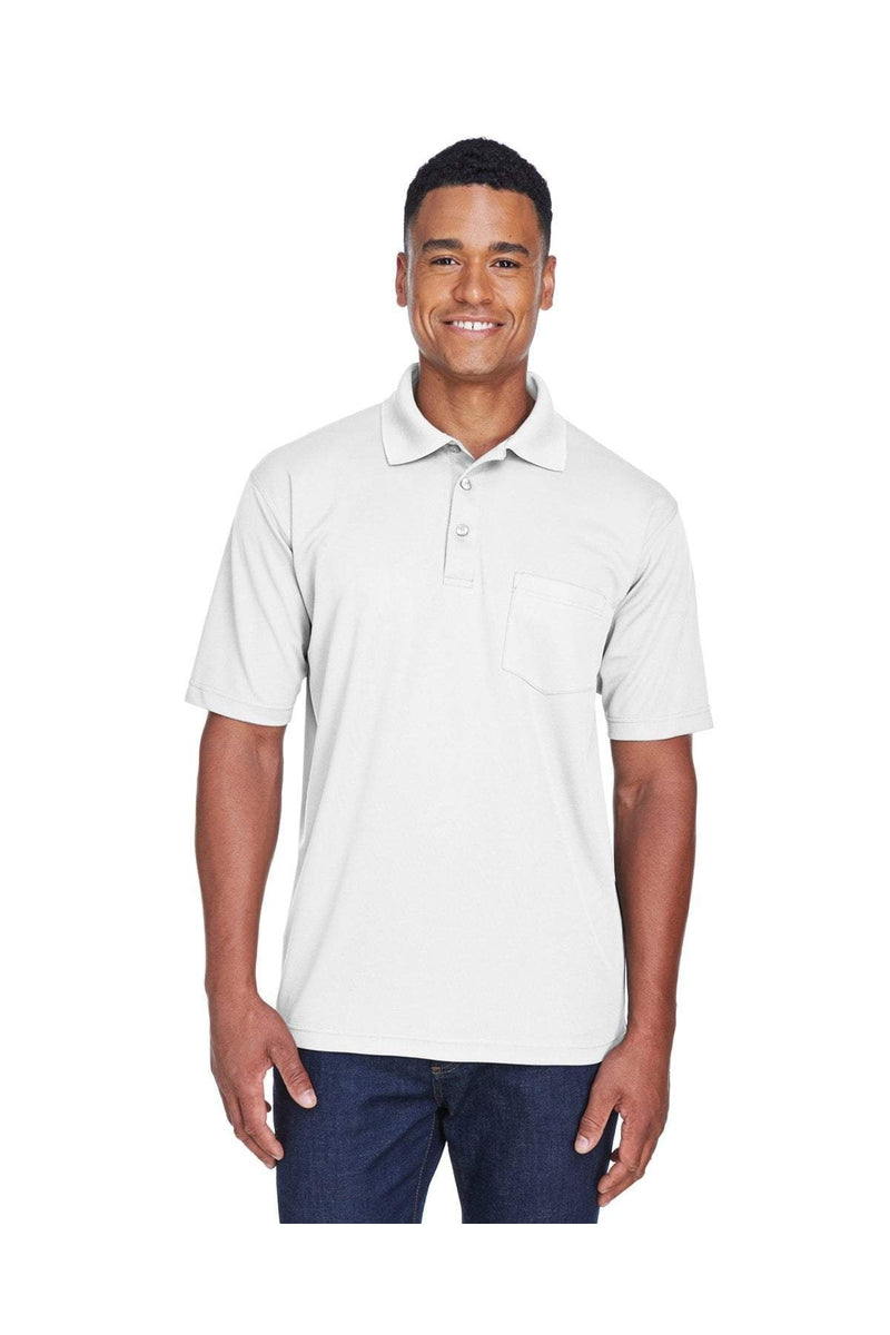 UltraClub 8210P: Adult Cool & Dry Mesh Pique Polo with Pocket-Polos-Bulkthreads.com, Wholesale T-Shirts and Tanks