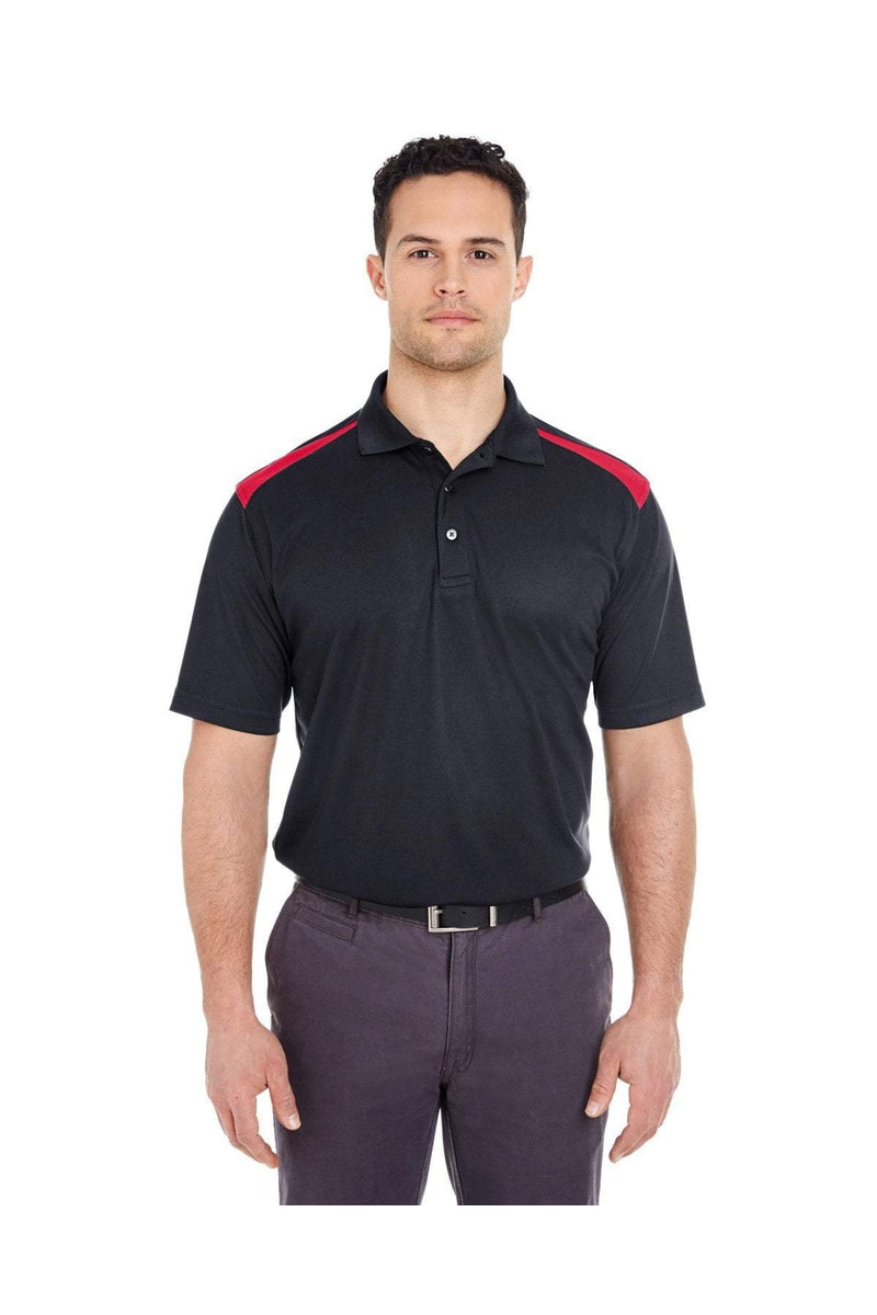 UltraClub 8215: Adult Cool & Dry Two-Tone Mesh Pique Polo-Polos-Bulkthreads.com, Wholesale T-Shirts and Tanks