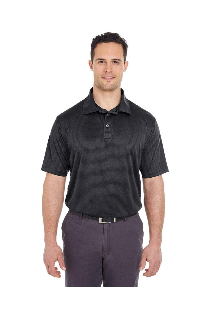 UltraClub 8220: Men's Cool & Dry Jacquard Stripe Polo-Polos-Bulkthreads.com, Wholesale T-Shirts and Tanks