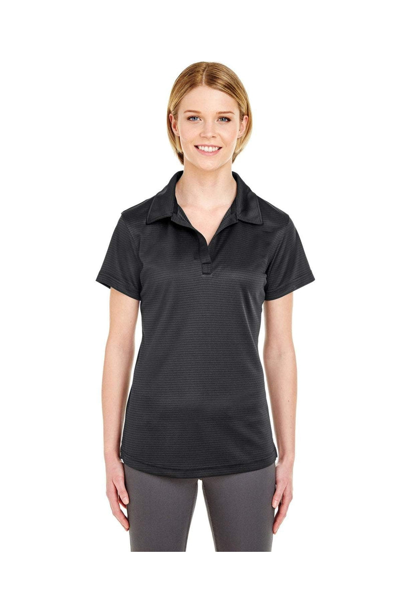 UltraClub 8220L: Ladies' Cool & Dry Jacquard Stripe Polo-Polos-Bulkthreads.com, Wholesale T-Shirts and Tanks