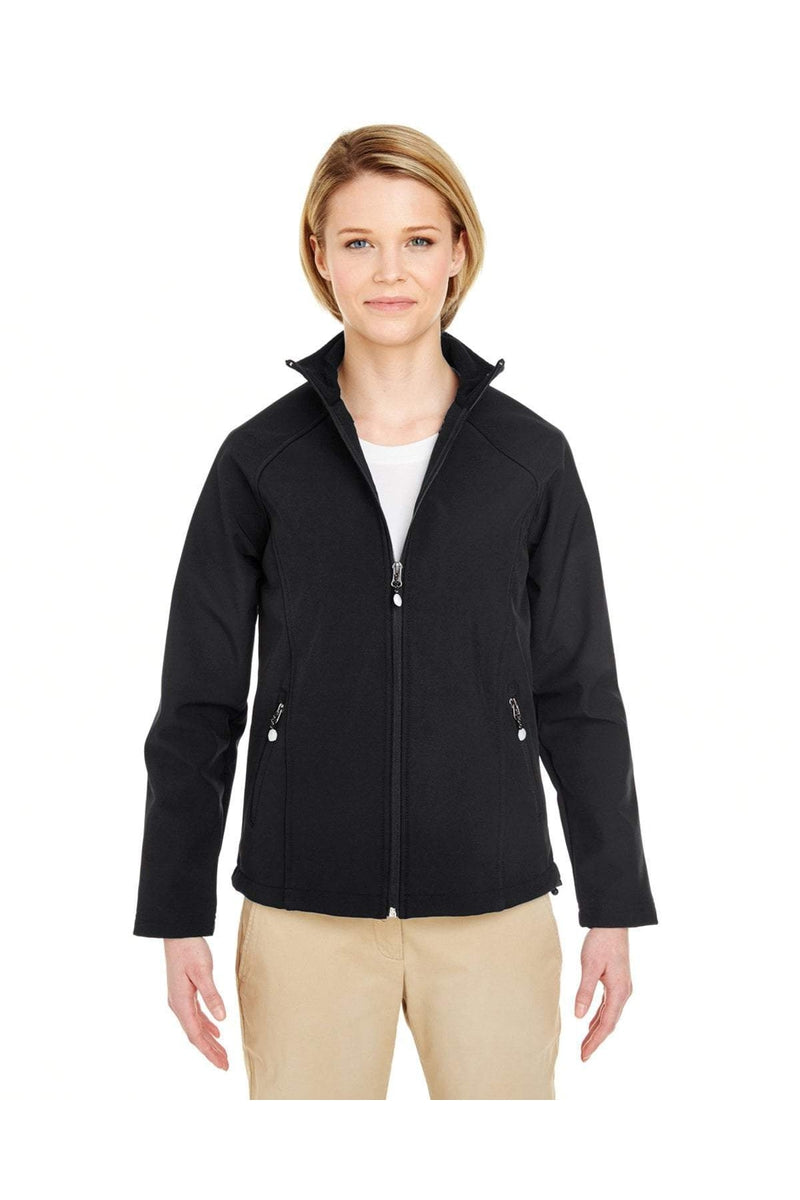 UltraClub 8265L: Ladies' Soft Shell Jacket-Outerwear-Bulkthreads.com, Wholesale T-Shirts and Tanks