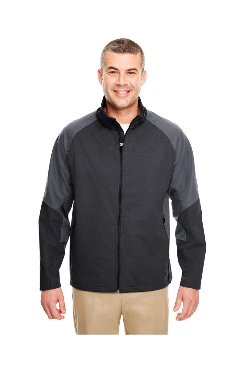 UltraClub 8275: Adult Two-Tone Soft Shell Jacket-Outerwear-Bulkthreads.com, Wholesale T-Shirts and Tanks