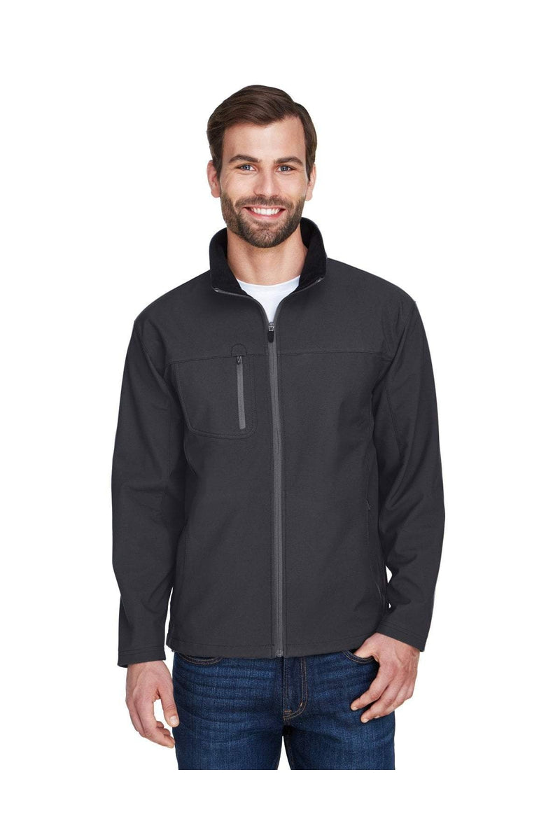UltraClub 8280: Adult Ripstop Soft Shell Jacket with Cadet Collar-Outerwear-Bulkthreads.com, Wholesale T-Shirts and Tanks