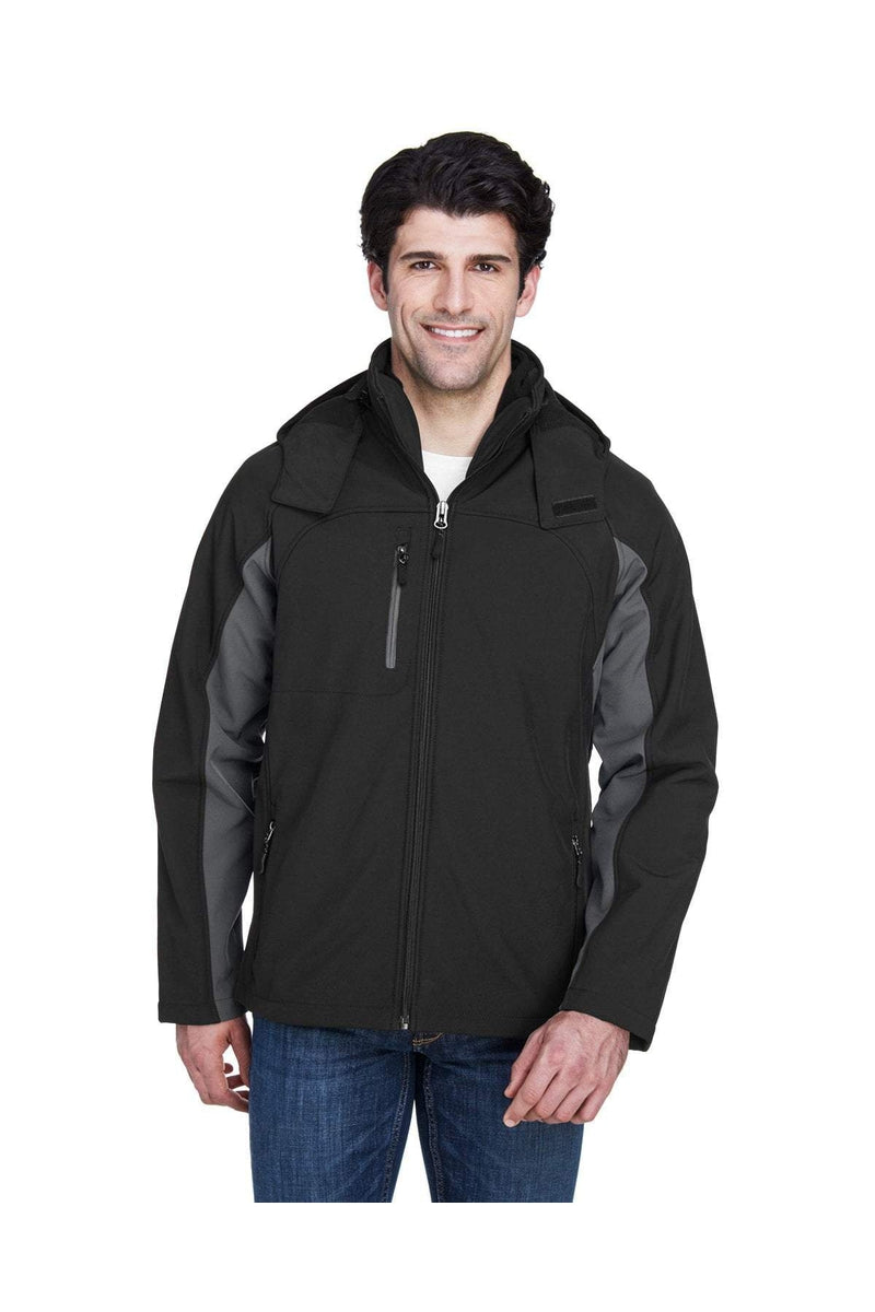 UltraClub 8290: Adult Colorblock 3-in-1 Systems Hooded Soft Shell Jacket-Outerwear-Bulkthreads.com, Wholesale T-Shirts and Tanks