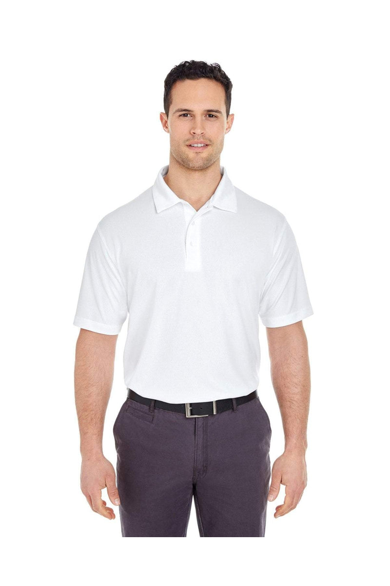 UltraClub 8320: Men's Platinum Performance Jacquard Polo with TempControl Technology-Polos-Bulkthreads.com, Wholesale T-Shirts and Tanks