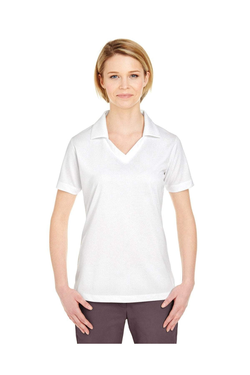 UltraClub 8320L: Ladies' Platinum Performance Jacquard Polo with TempControl Technology-Polos-Bulkthreads.com, Wholesale T-Shirts and Tanks