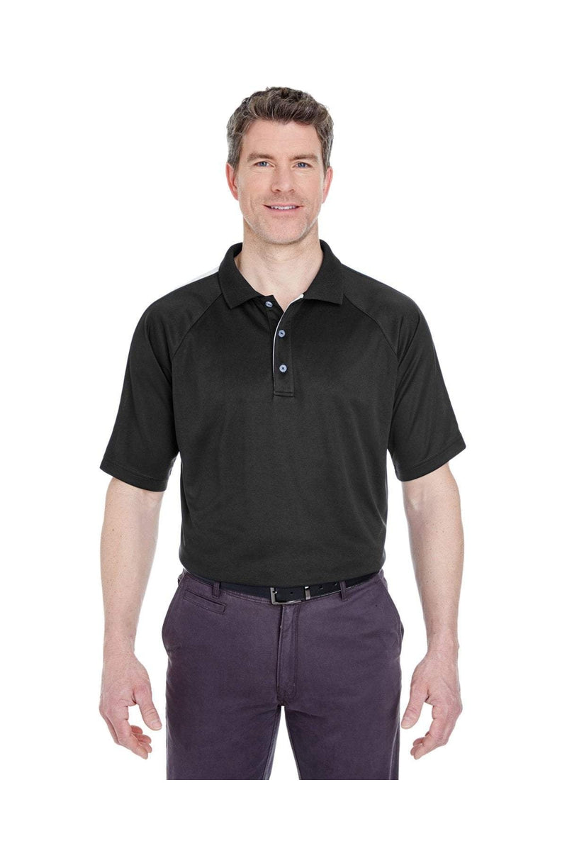 UltraClub 8409: Adult Cool & Dry Sport Shoulder Block Polo-Polos-Bulkthreads.com, Wholesale T-Shirts and Tanks