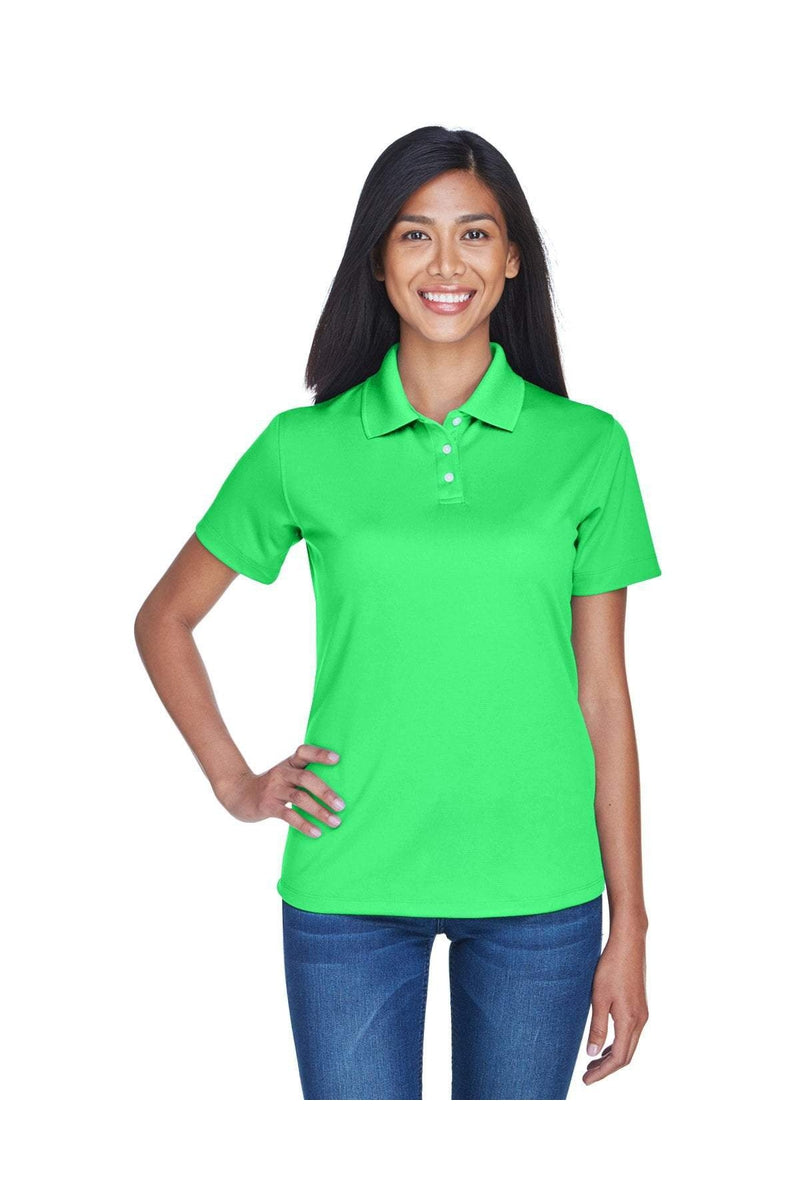 UltraClub 8445L: Ladies' Cool & Dry Stain-Release Performance Polo, Basic Colors-Polos-Bulkthreads.com, Wholesale T-Shirts and Tanks