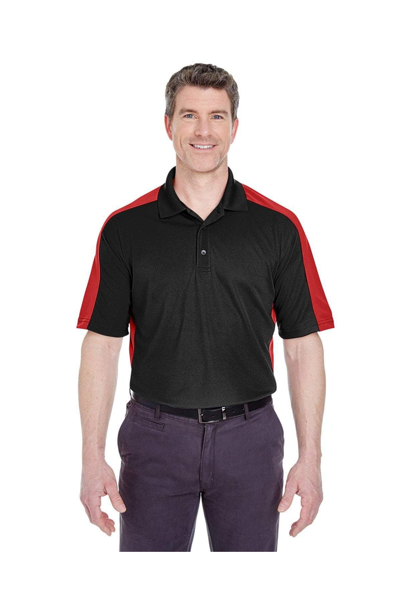 UltraClub 8447: Adult Cool & Dry Stain-Release Two-Tone Performance Polo-Polos-Bulkthreads.com, Wholesale T-Shirts and Tanks