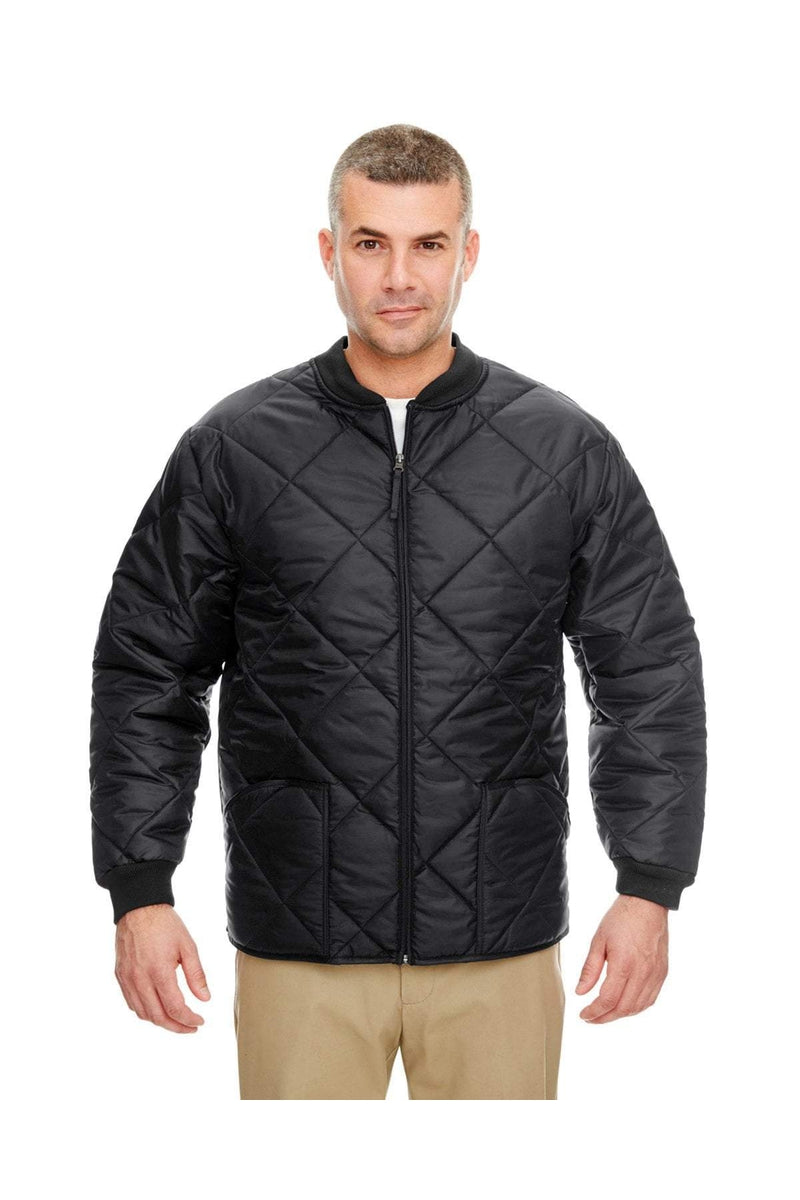 UltraClub 8467: Adult Puffy Workwear Jacket with Quilted Lining-Outerwear-Bulkthreads.com, Wholesale T-Shirts and Tanks