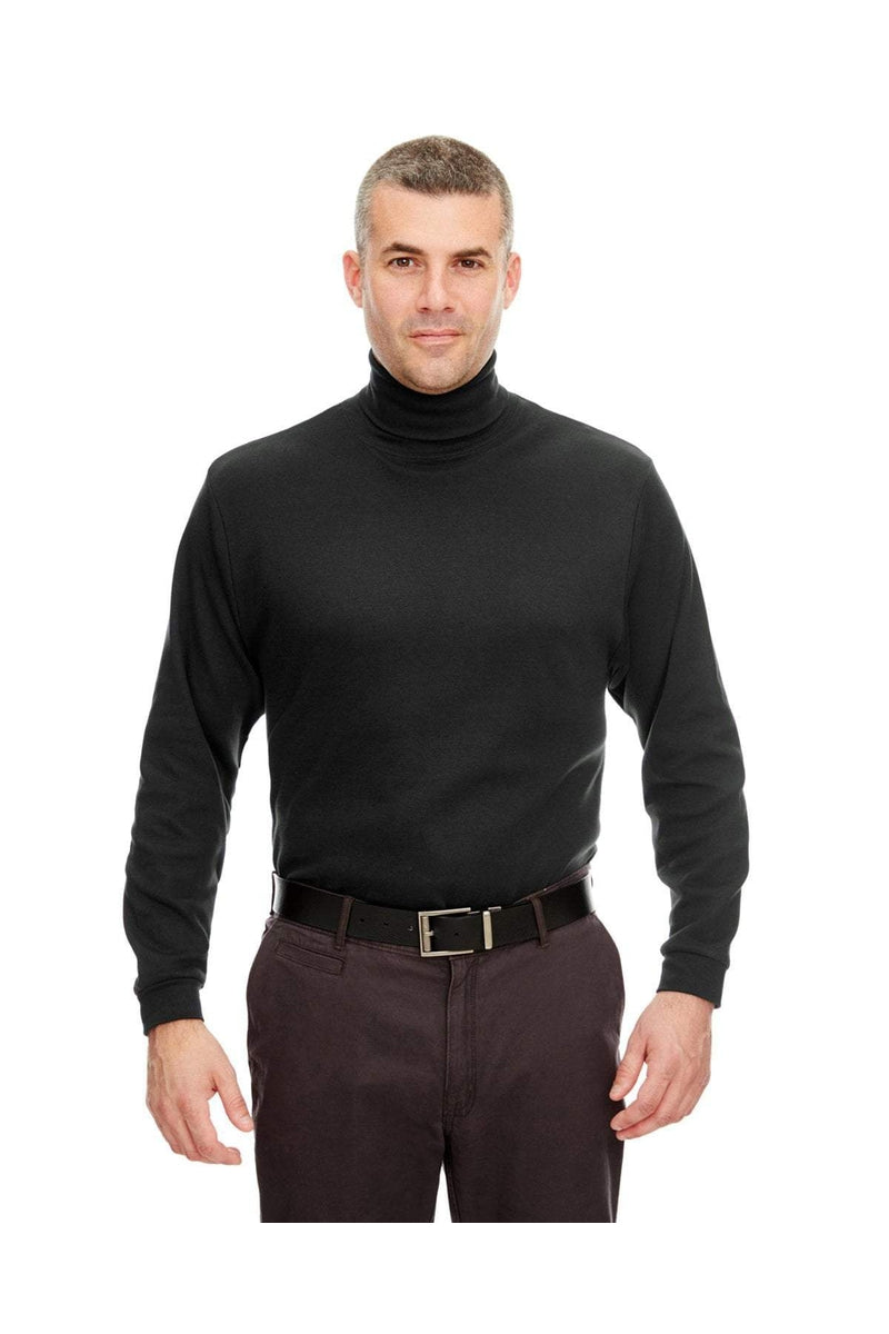 UltraClub 8516: Adult Egyptian Interlock Long-Sleeve Turtleneck-Polos-Bulkthreads.com, Wholesale T-Shirts and Tanks