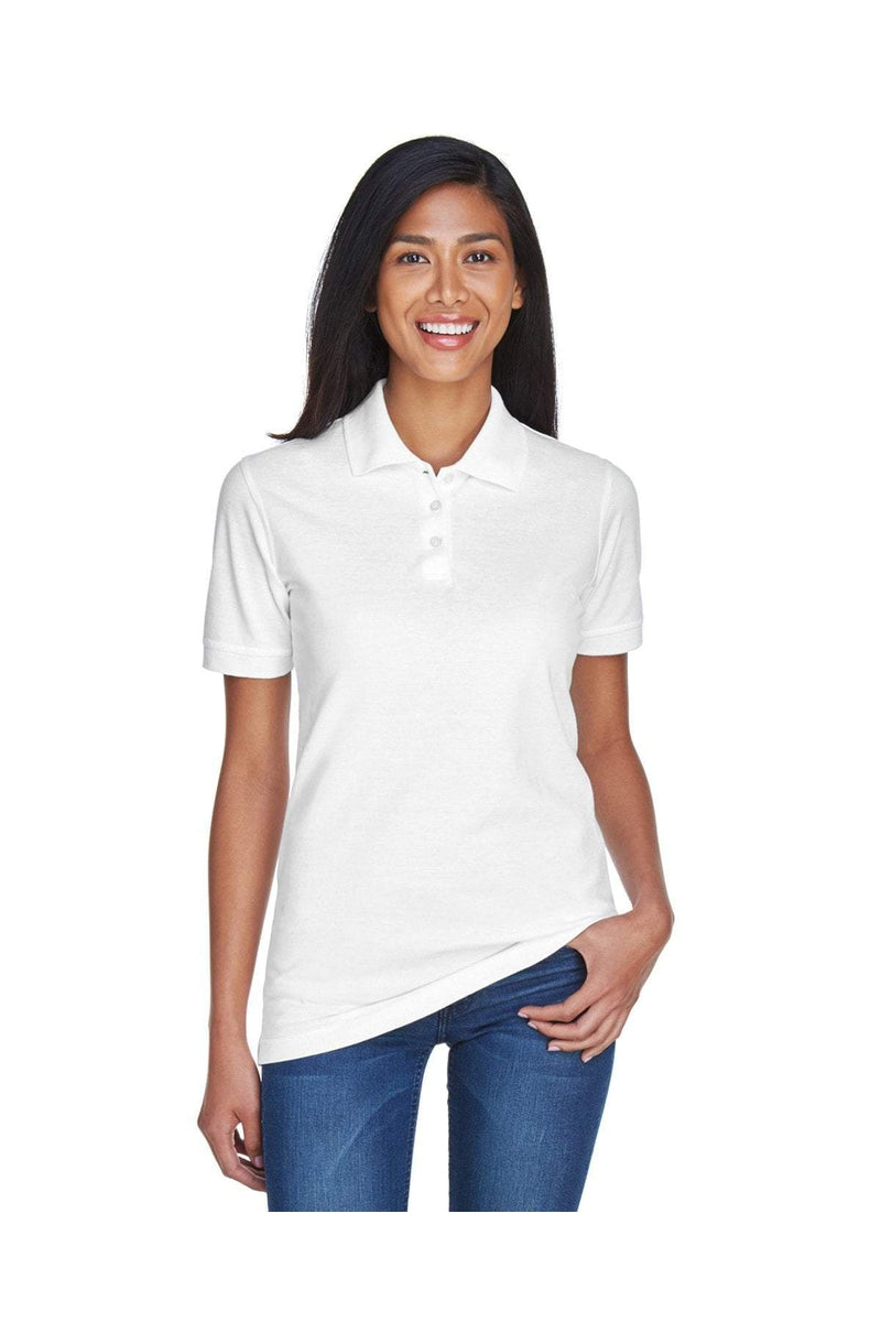 UltraClub 8530: Ladies' Classic Pique Polo-Polos-Bulkthreads.com, Wholesale T-Shirts and Tanks