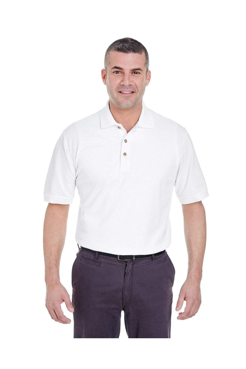 UltraClub 8535T: Men's Tall Classic Pique Polo-Polos-Bulkthreads.com, Wholesale T-Shirts and Tanks