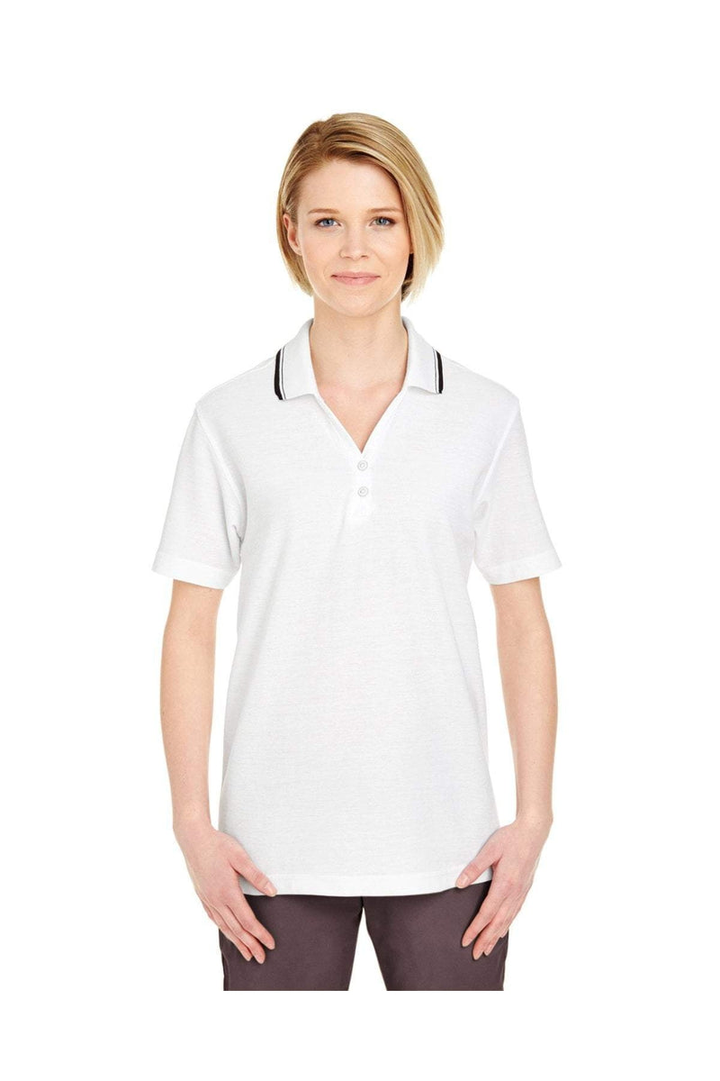 UltraClub 8546: Ladies' Short-Sleeve Whisper Pique Polo with Tipped Collar-Polos-Bulkthreads.com, Wholesale T-Shirts and Tanks