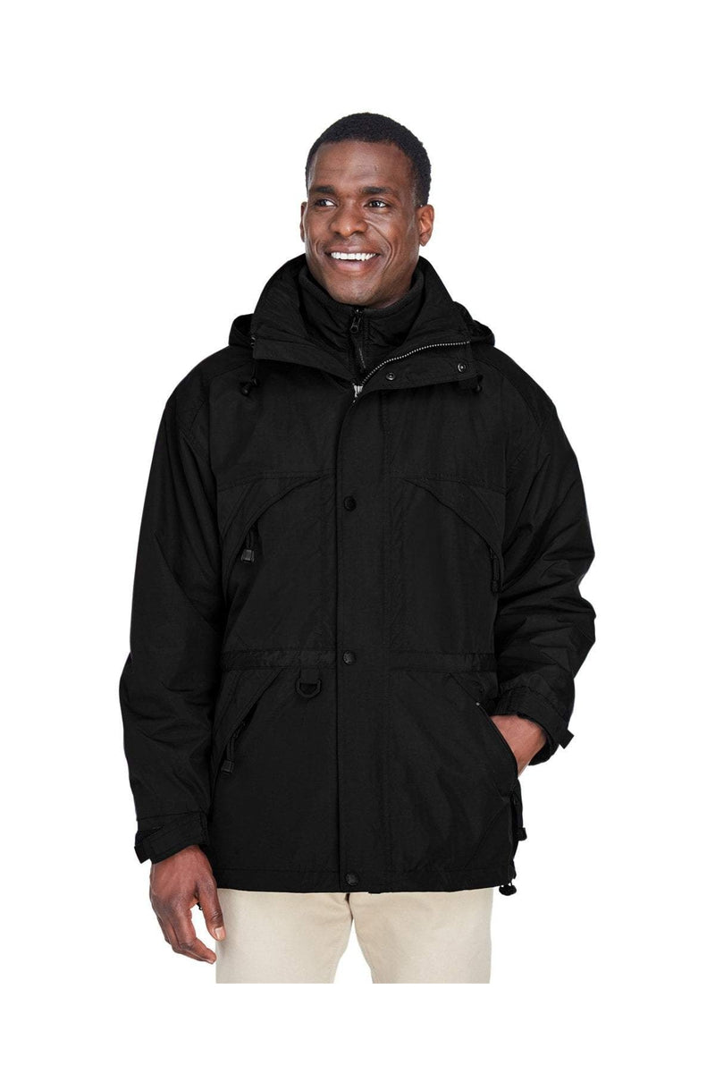 Ash City - North End 88007: Adult 3-in-1 Parka with Dobby Trim-Outerwear-Bulkthreads.com, Wholesale T-Shirts and Tanks