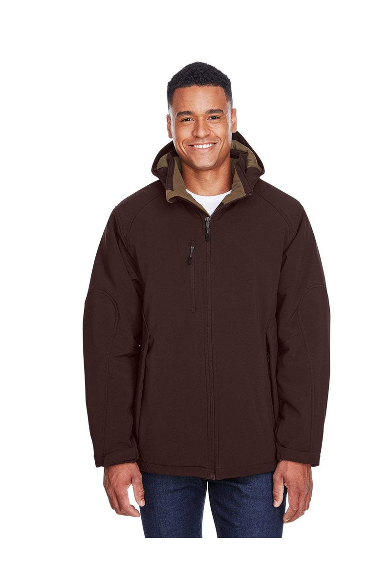 Ash City - North End 88159: Men's Glacier Insulated Three-Layer Fleece Bonded Soft Shell Jacket with Detachable Hood-Outerwear-Bulkthreads.com, Wholesale T-Shirts and Tanks