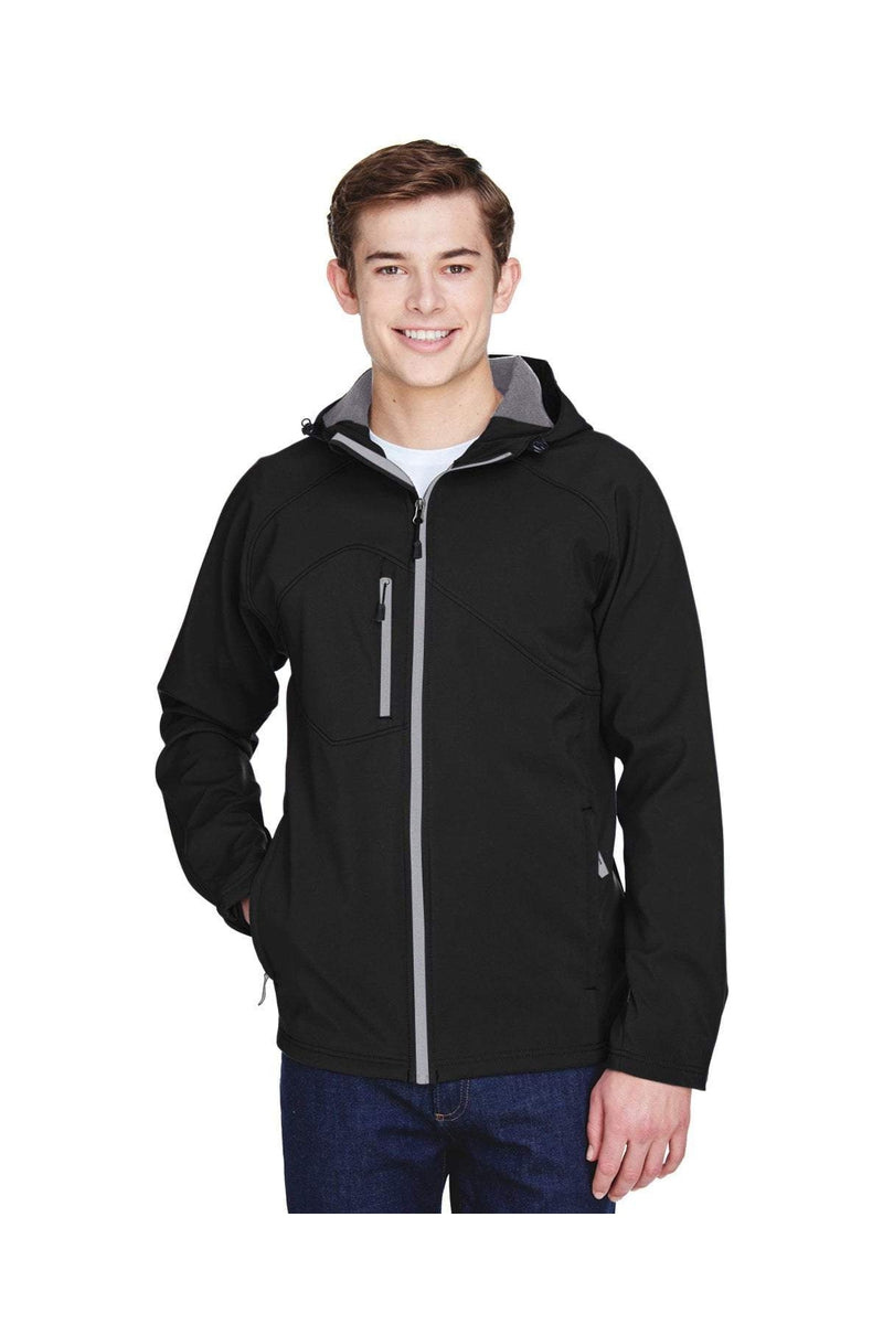 Ash City - North End 88166: Men's Prospect Two-Layer Fleece Bonded Soft Shell Hooded Jacket-Outerwear-Bulkthreads.com, Wholesale T-Shirts and Tanks