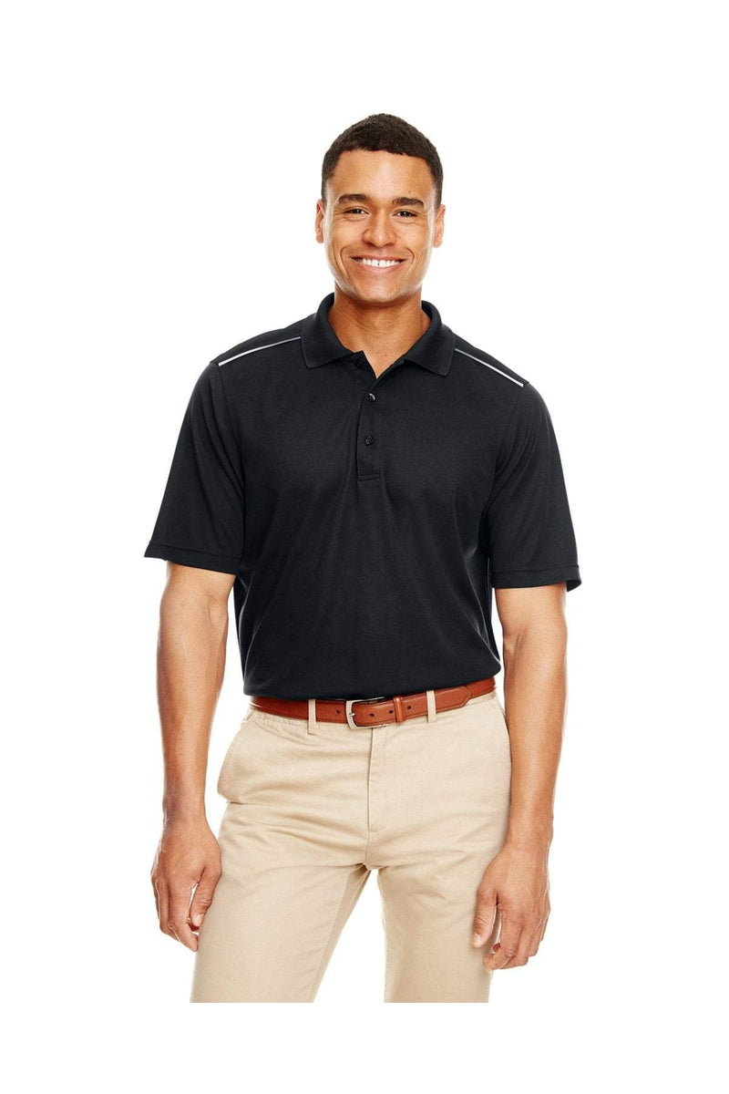 Ash City - Core 365 88181R: Men's Radiant Performance Pique Polo with Reflective Piping-Polos-Bulkthreads.com, Wholesale T-Shirts and Tanks