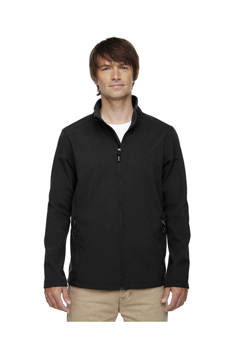 Ash City - Core 365 88184T: Men's Tall Cruise Two-Layer Fleece Bonded Soft Shell Jacket-Outerwear-Bulkthreads.com, Wholesale T-Shirts and Tanks