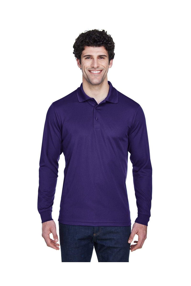 Ash City - Core 365 88192: Men's Pinnacle Performance Long-Sleeve Pique Polo-Polos-Bulkthreads.com, Wholesale T-Shirts and Tanks