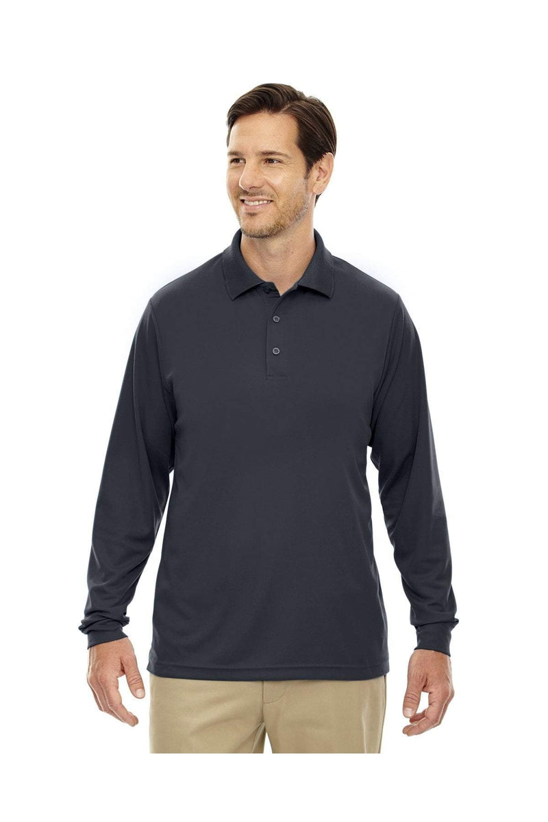 Ash City - Core 365 88192T: Men's Tall Pinnacle Performance Long-Sleeve Pique Polo-Polos-Bulkthreads.com, Wholesale T-Shirts and Tanks