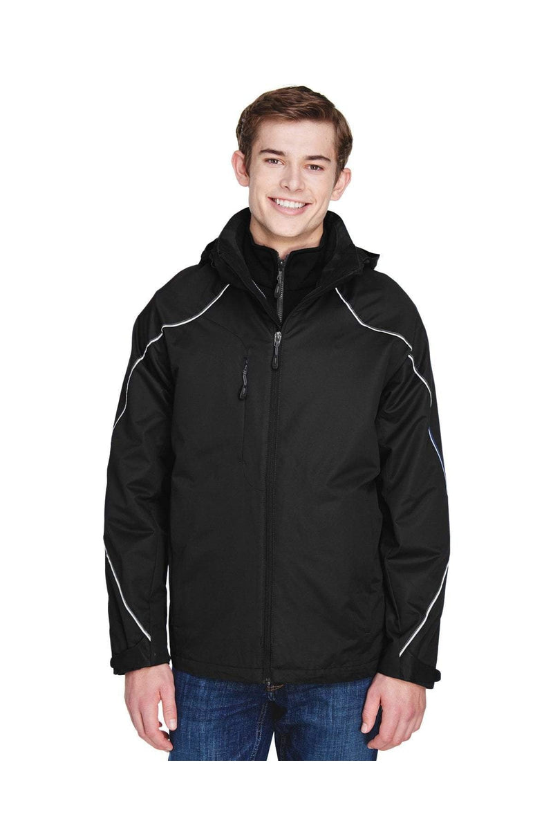 Ash City - North End 88196: Men's Angle 3-in-1 Jacket with Bonded Fleece Liner-Outerwear-Bulkthreads.com, Wholesale T-Shirts and Tanks
