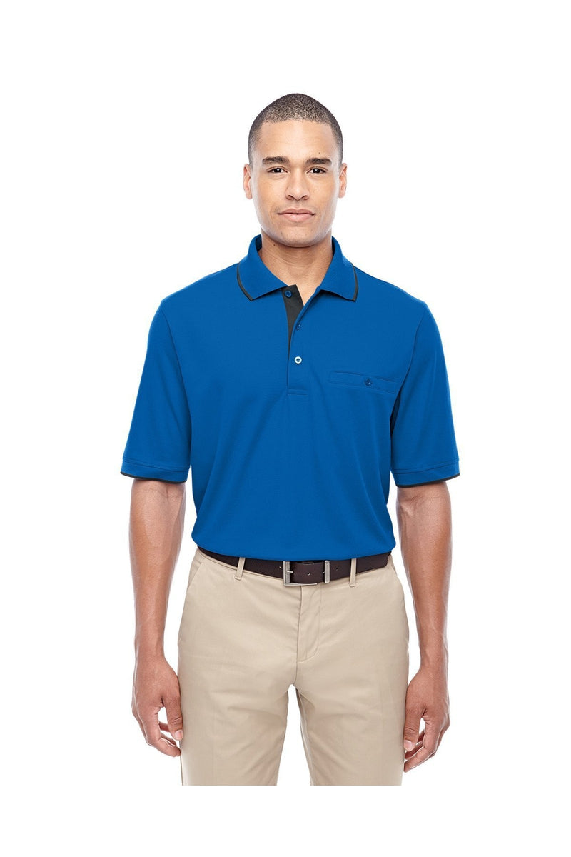 Ash City - Core 365 88222: Men's Motive Performance Pique Polo with Tipped Collar-Polos-Bulkthreads.com, Wholesale T-Shirts and Tanks