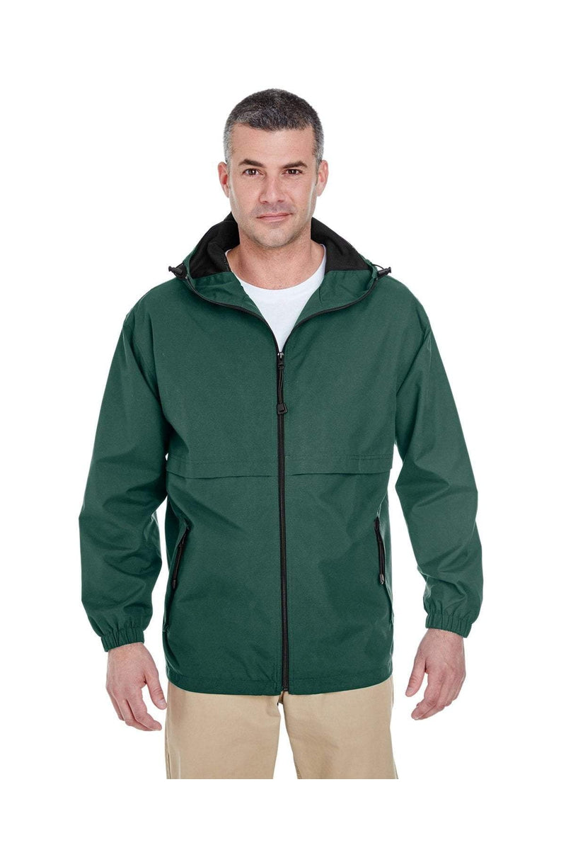 UltraClub 8908: Adult Microfiber Full-Zip Hooded Jacket-Outerwear-Bulkthreads.com, Wholesale T-Shirts and Tanks