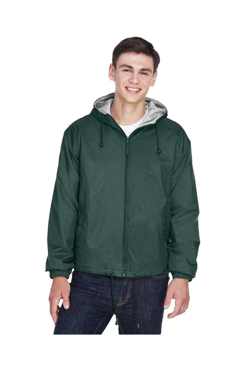 UltraClub 8915: Adult Fleece-Lined Hooded Jacket-Outerwear-Bulkthreads.com, Wholesale T-Shirts and Tanks