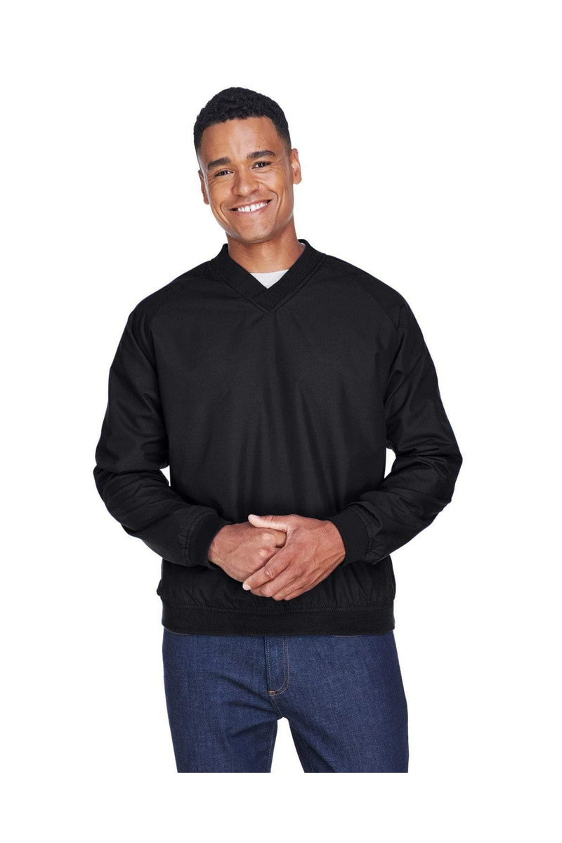 UltraClub 8926: Adult Long-Sleeve Microfiber Crossover V-Neck Wind Shirt-Outerwear-Bulkthreads.com, Wholesale T-Shirts and Tanks