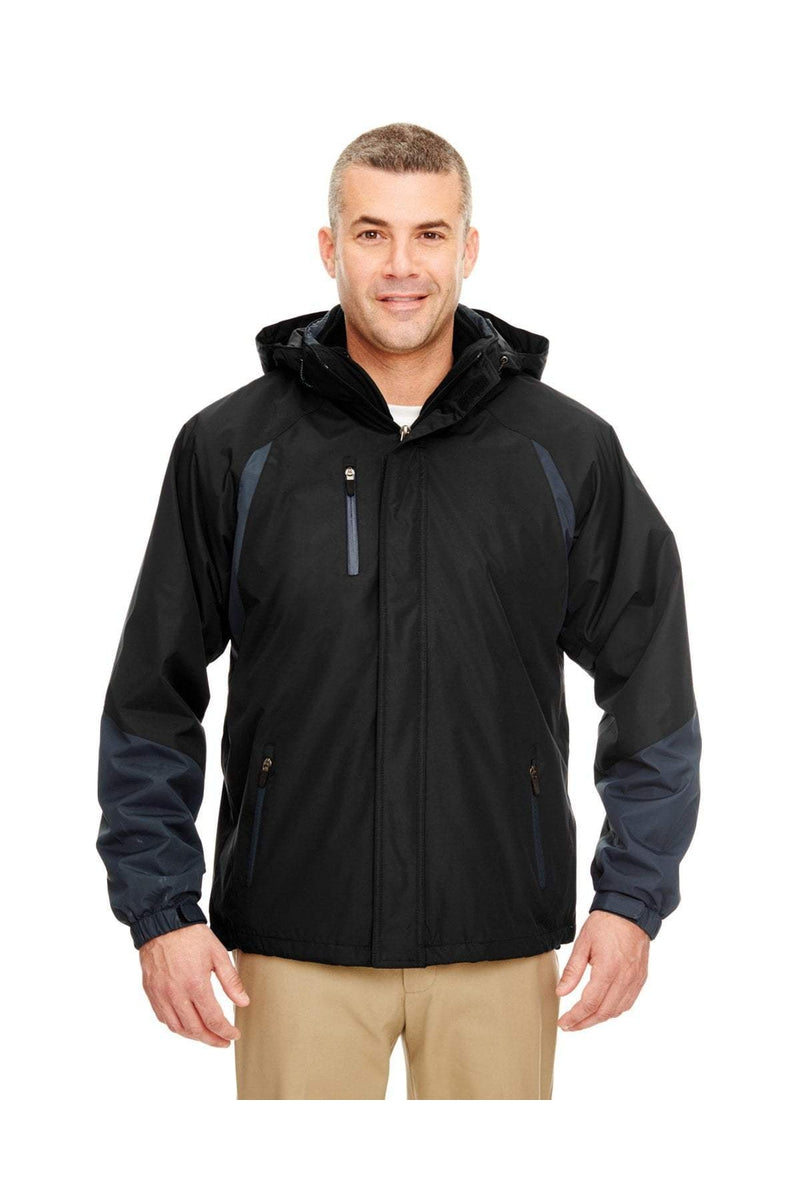 UltraClub 8939: Adult Colorblock 3-in-1 Systems Hooded Jacket-Outerwear-Bulkthreads.com, Wholesale T-Shirts and Tanks