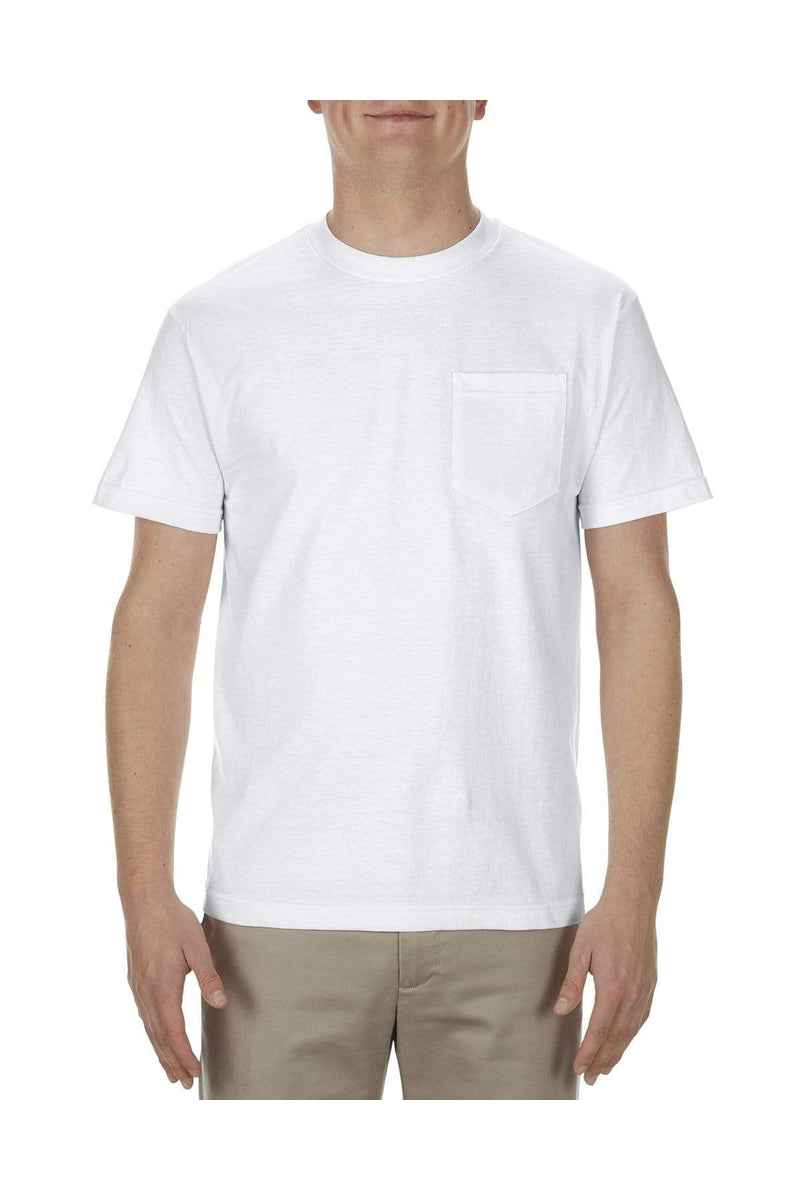 Alstyle AL1905: Adult 5.1 oz., 100% Soft Spun Cotton Pocket T-Shirt-T-Shirts-wholesale apparel